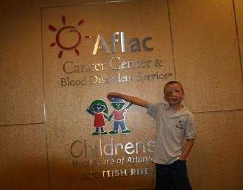Joey at the cancer center